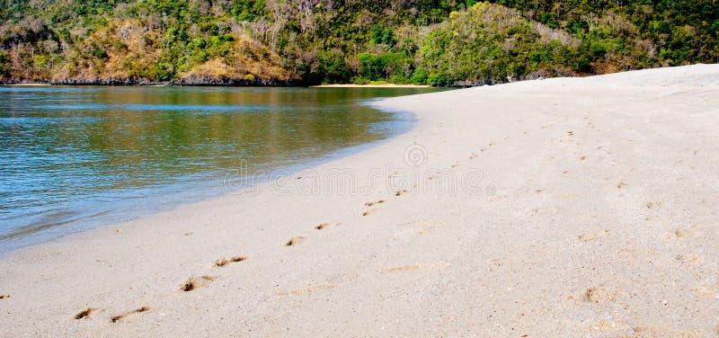 Ciel de côte de mer de Langkawi images stock