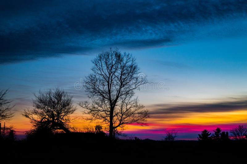 Ciel de couleurs photographie stock libre de droits