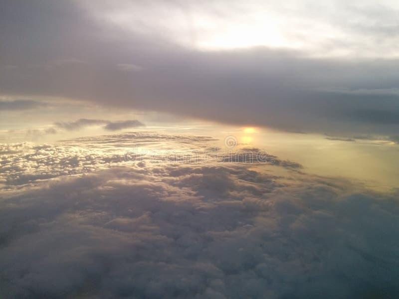 Ciel de ciel d'exposition de lumière de Sun images libres de droits