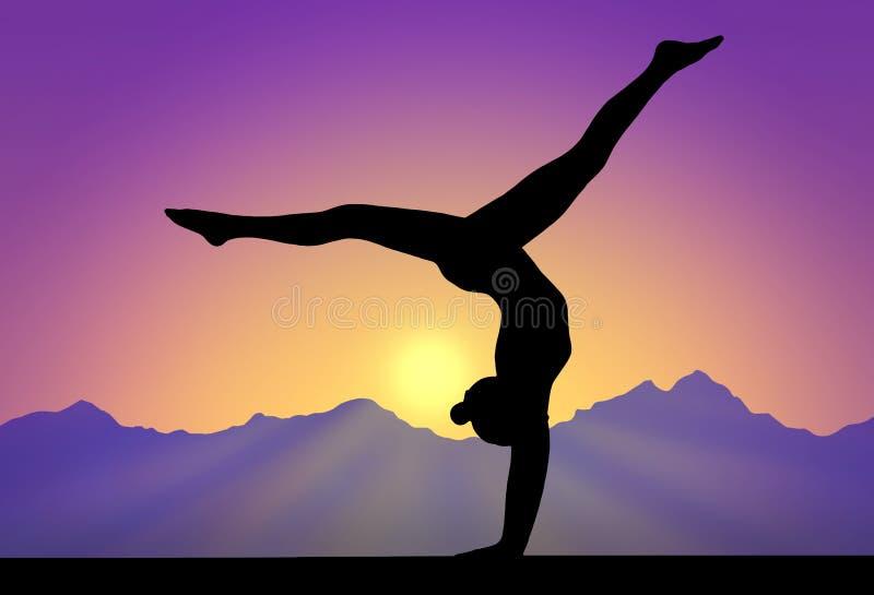 Ciel de gymnastique illustration stock
