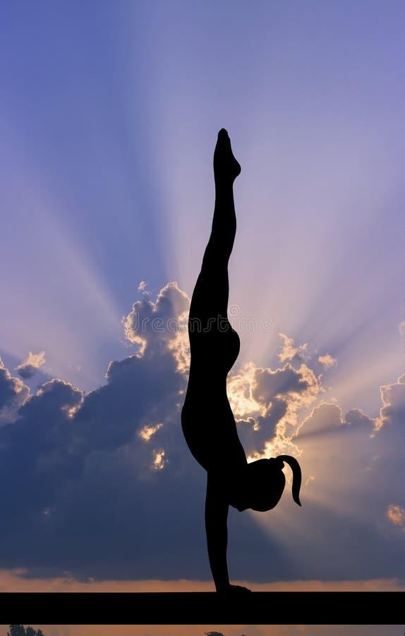 Ciel de gymnastique illustration libre de droits