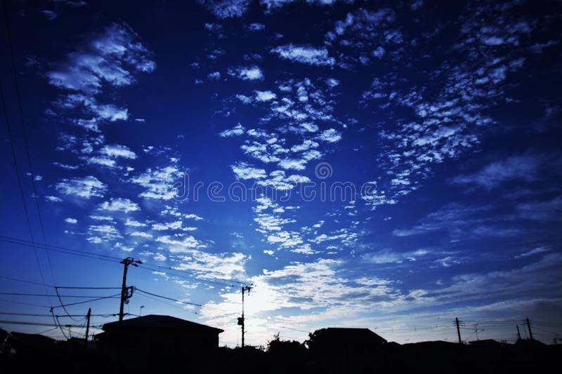 Ciel de Moning photo libre de droits