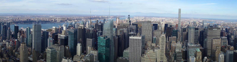 Ciel de New York City Manhattan Etats-Unis USA d'horizon images libres de droits