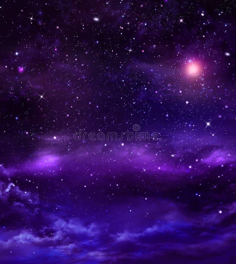 Ciel de nuit étoilé images libres de droits