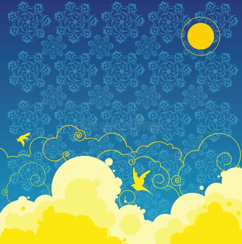 Ciel de nuit illustration stock
