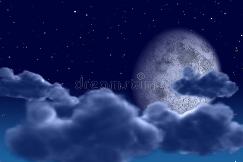 Ciel de nuit illustration stock