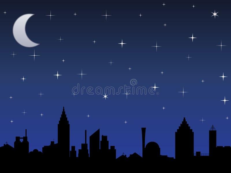 Ciel de nuit avec des étoiles illustration de vecteur