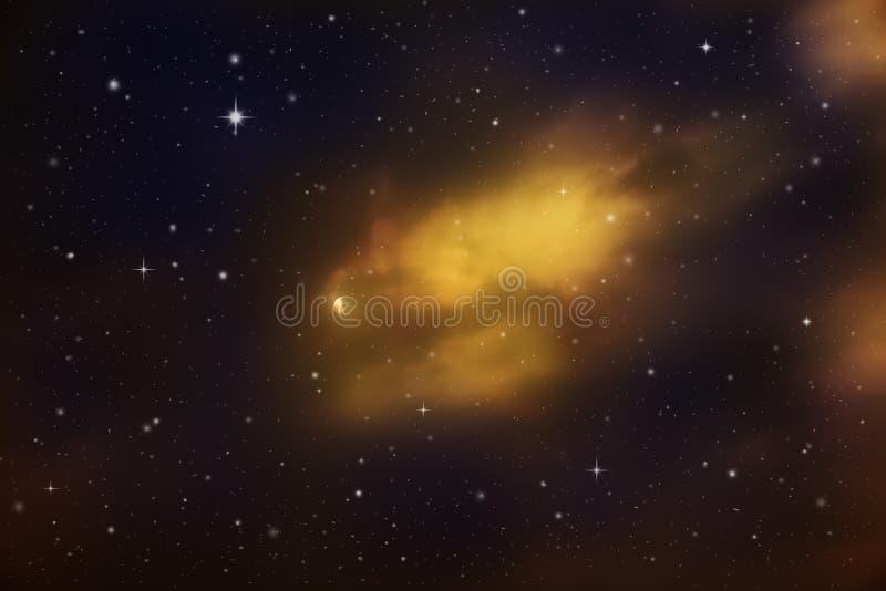 Ciel de nuit coloré photo stock