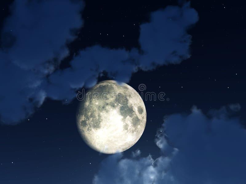 Ciel de nuit de lune photos stock