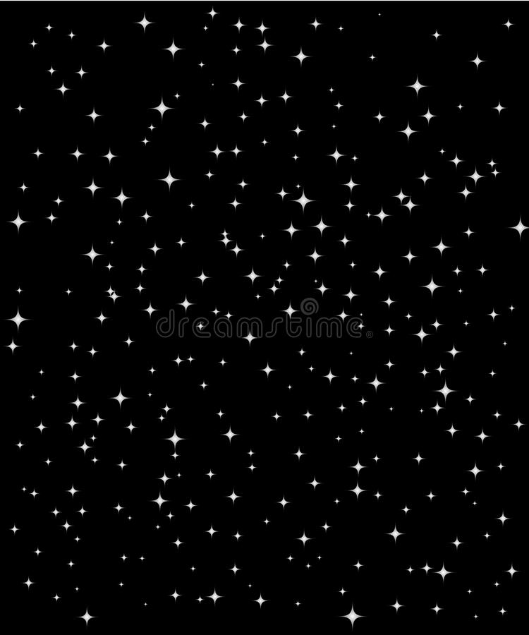 Ciel de nuit vertical de vecteur d'étoile illustration stock