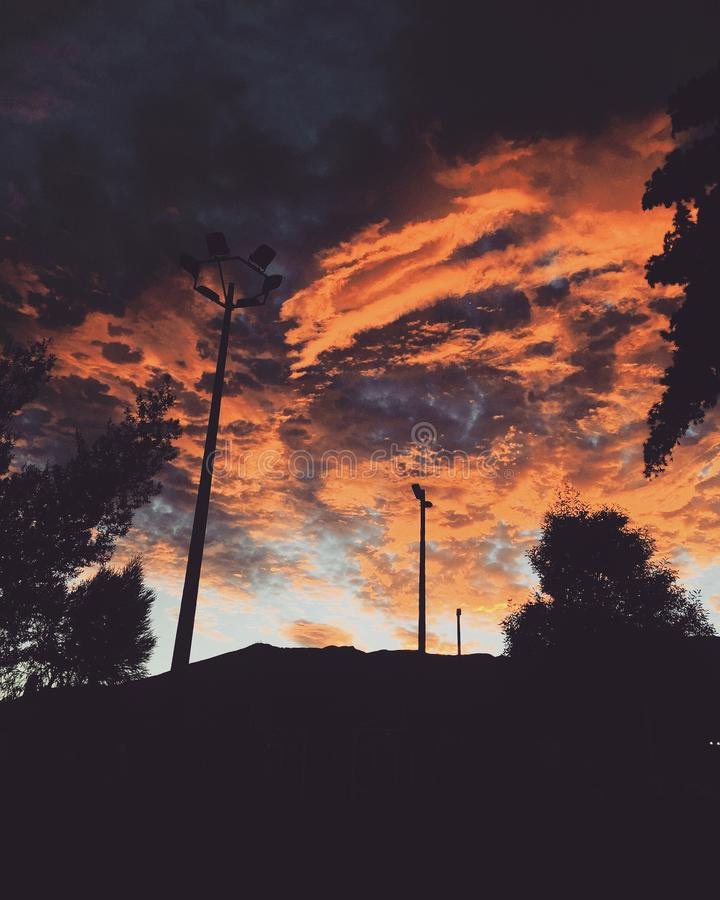 Ciel de Quito photos stock