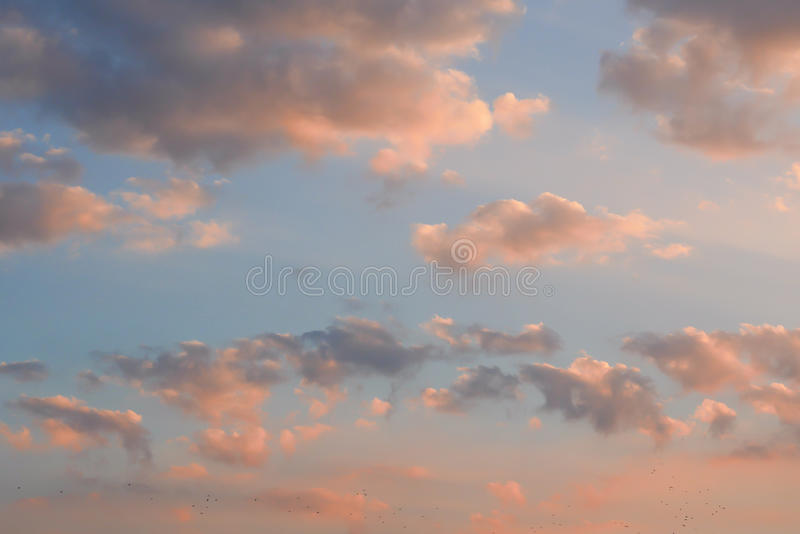 Ciel de soirée photo stock