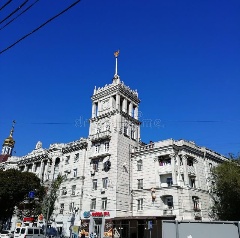 Ciel de ville de Mariupol images stock