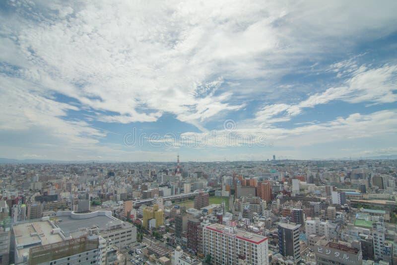 Ciel du Japon dans le bleu images libres de droits