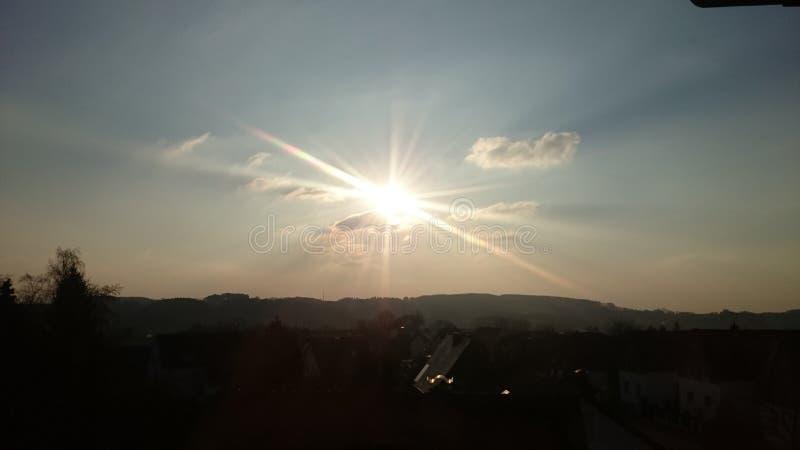 ciel du soleil photographie stock libre de droits