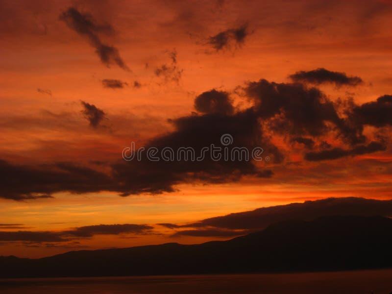 Ciel en flammes photos libres de droits