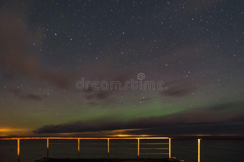Ciel et étoiles de nuit images libres de droits