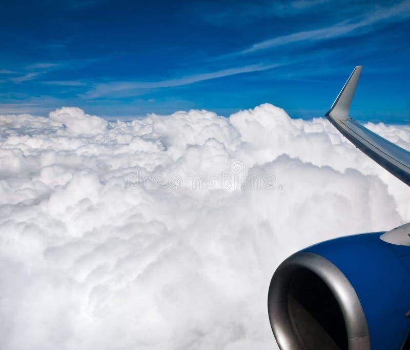 Ciel et avion photographie stock