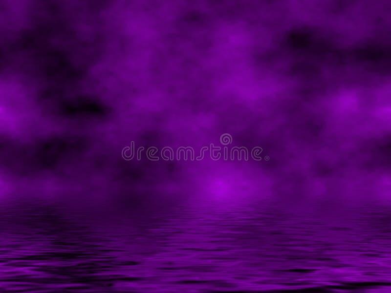 Ciel et eau pourprés illustration de vecteur