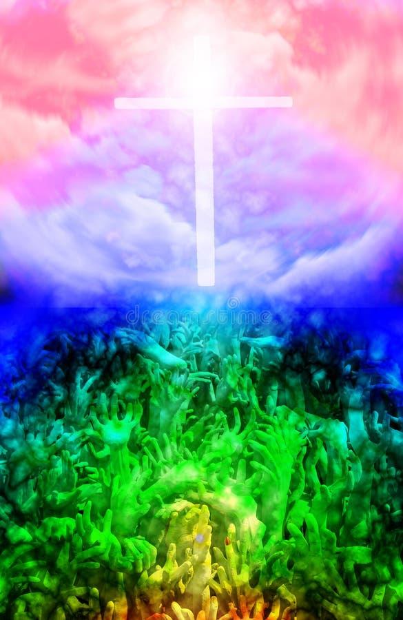Ciel et enfer. illustration libre de droits