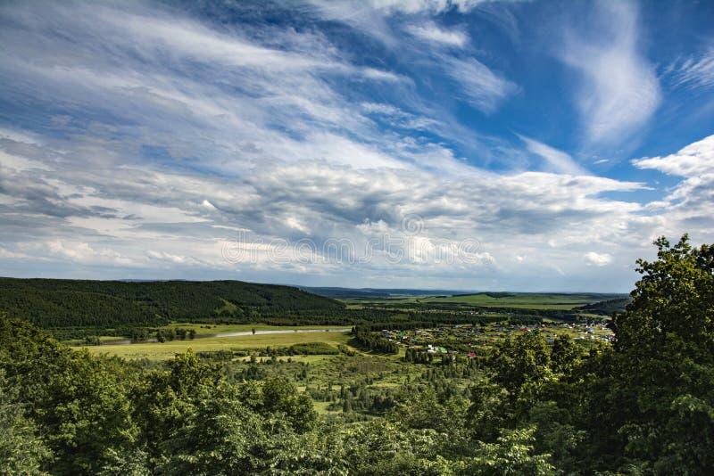 Ciel et forêt image stock