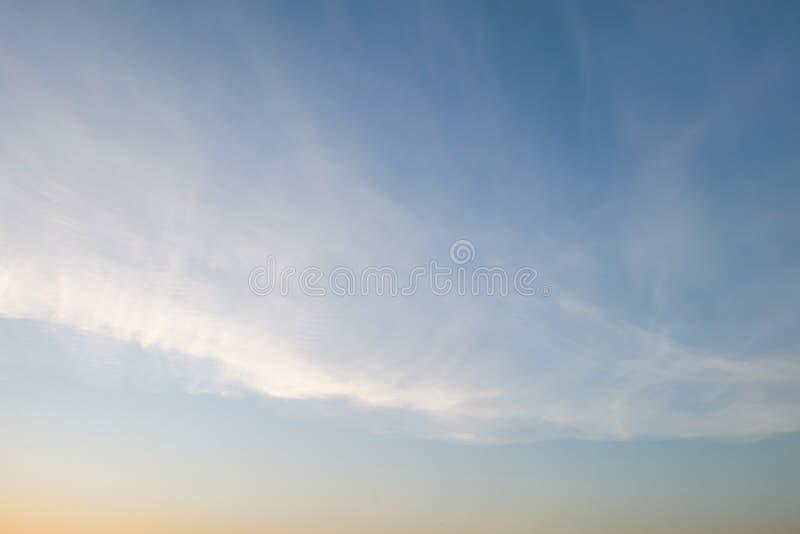 Ciel et nuage, foyer mou photographie stock libre de droits
