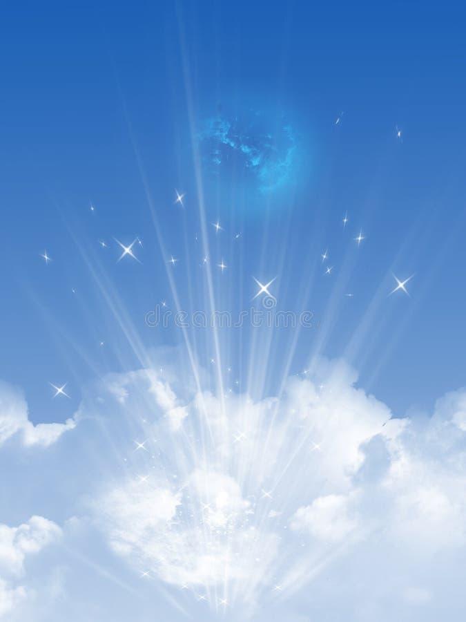 Ciel et nuages illustration de vecteur
