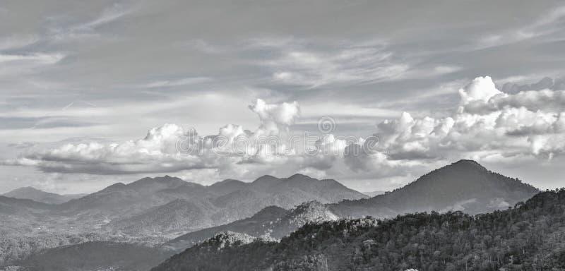 Ciel et nuages B/W image libre de droits