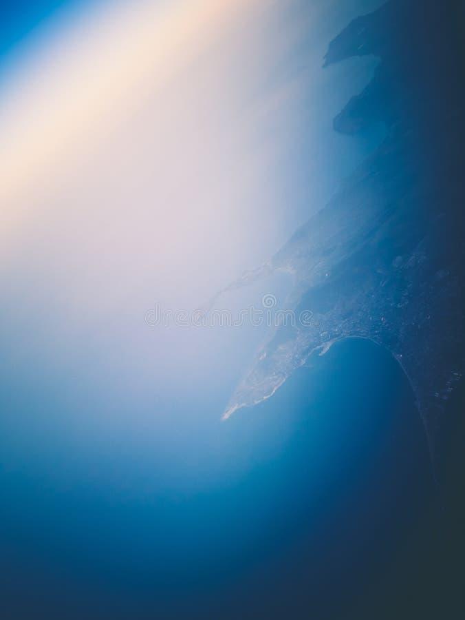 Ciel et nuages d'air de l'espace de l'atmosphère photo stock