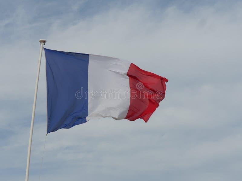 Ciel français de drapeau photo libre de droits