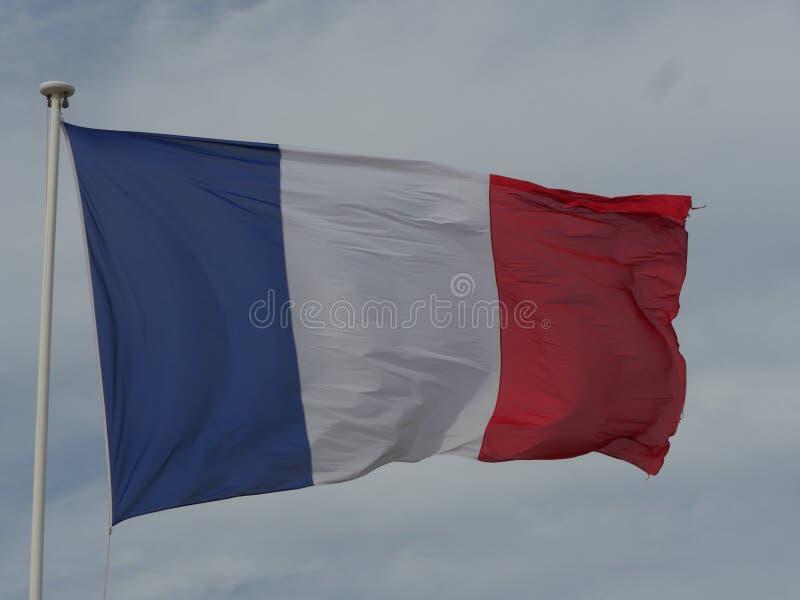 Ciel français de drapeau photo stock