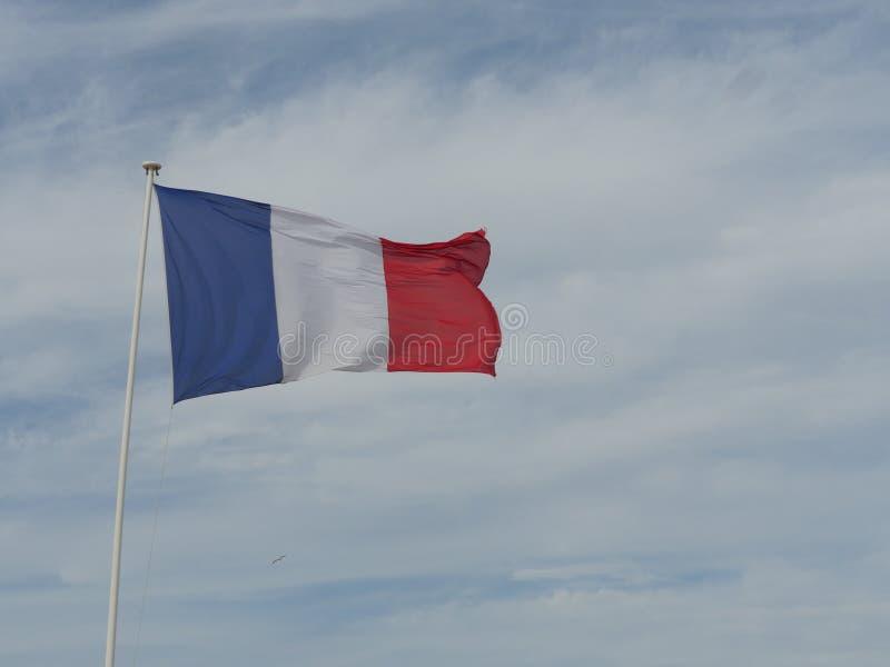 Ciel français de drapeau photographie stock
