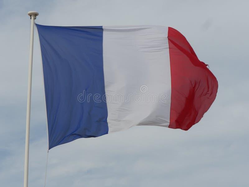 Ciel français de drapeau images libres de droits
