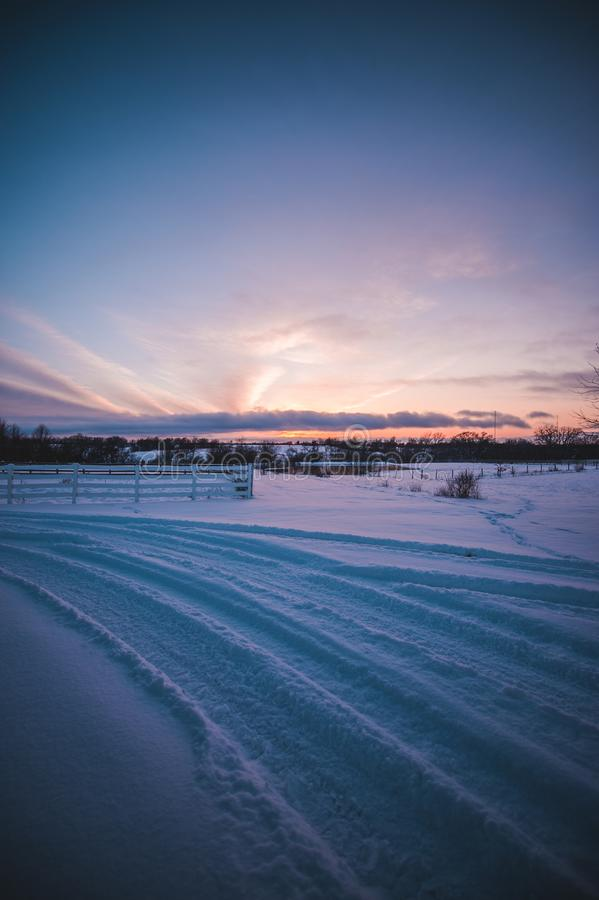 Ciel grand de coucher du soleil de montagne de Teton photos libres de droits