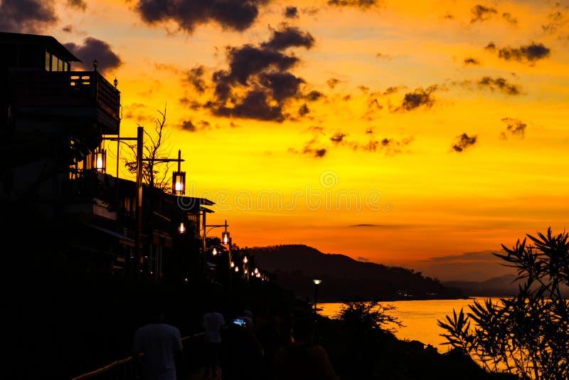 Ciel jaune de ChiangKan photographie stock libre de droits