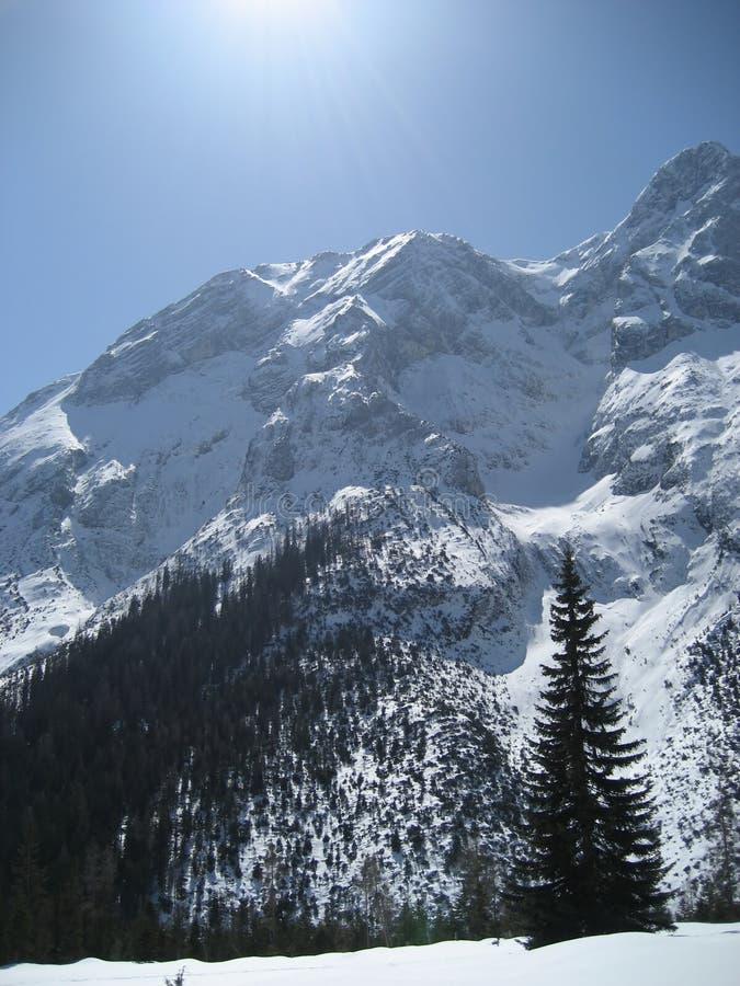 Ciel le Tirol/au Tyrol photo libre de droits