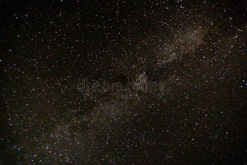 Ciel lumineux étonnant d'étoile à l'heure d'été photographie stock
