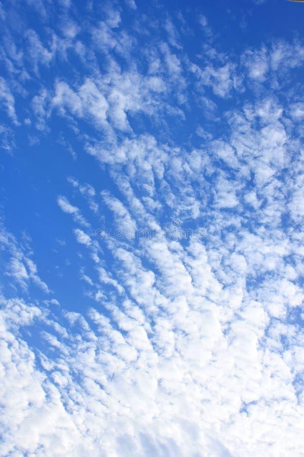 Ciel lumineux avec des groupes de nuage photo libre de droits