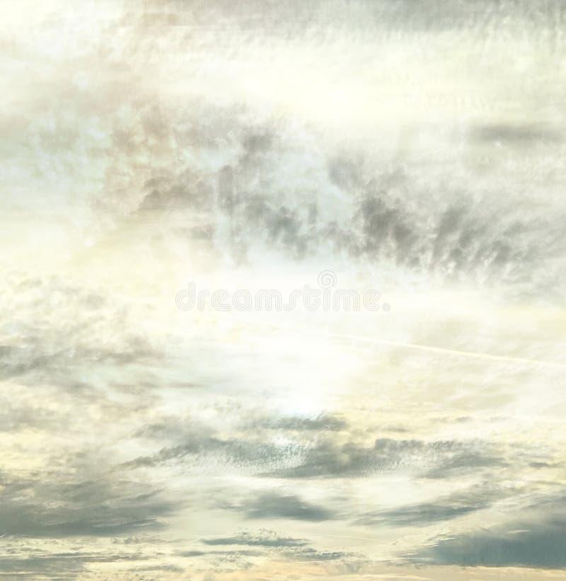 Ciel mûr calme abstrait de soirée de l'Arizona images stock