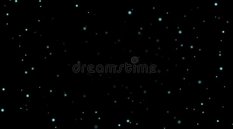 Ciel nocturne avec les étoiles bleues sur le fond noir Calibre foncé de l'espace d'astronomie Papier peint étoilé de modèle de ga illustration de vecteur