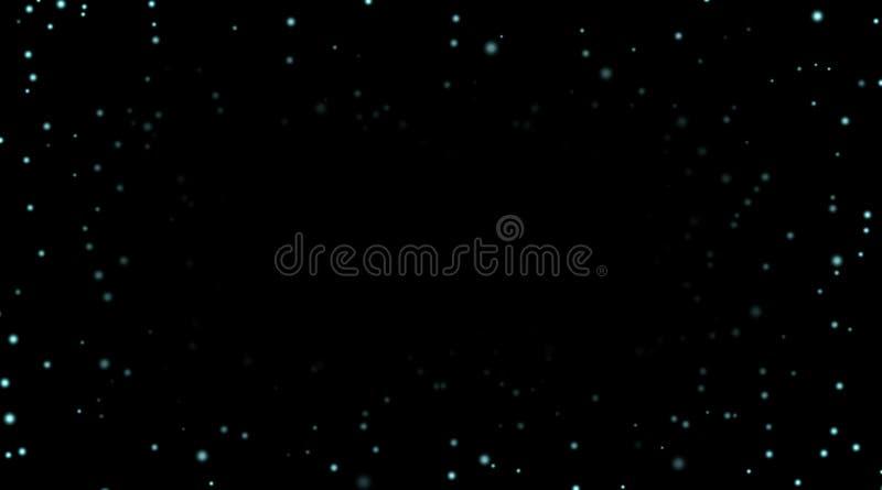 Ciel nocturne avec les étoiles bleues sur le fond noir Calibre foncé de l'espace d'astronomie Papier peint étoilé de modèle de ga illustration libre de droits