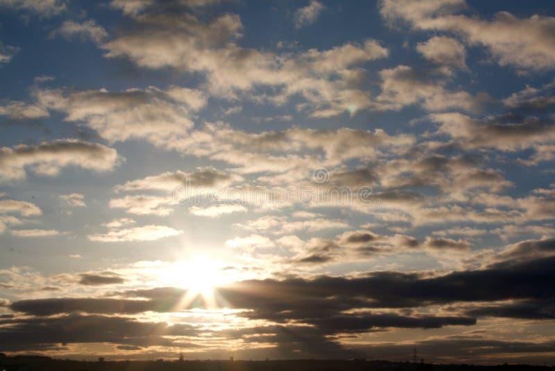 Ciel nuageux photo stock