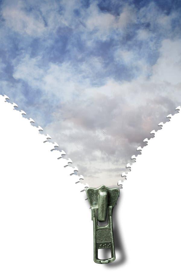 Ciel nuageux de tirette photos libres de droits