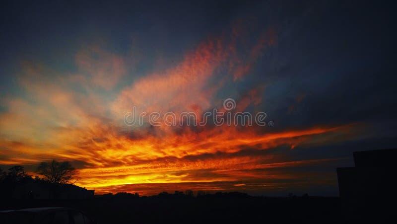 Ciel orange images stock
