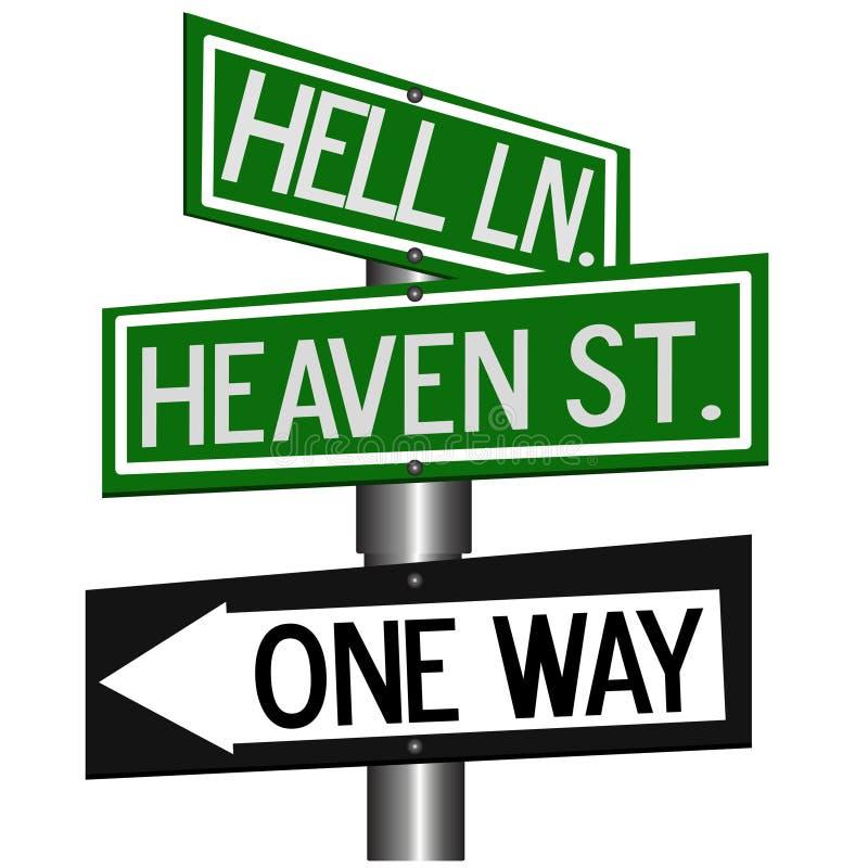 Ciel ou enfer illustration de vecteur