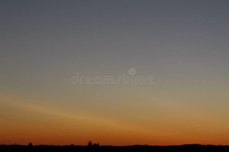 Ciel portugais de soirée photographie stock