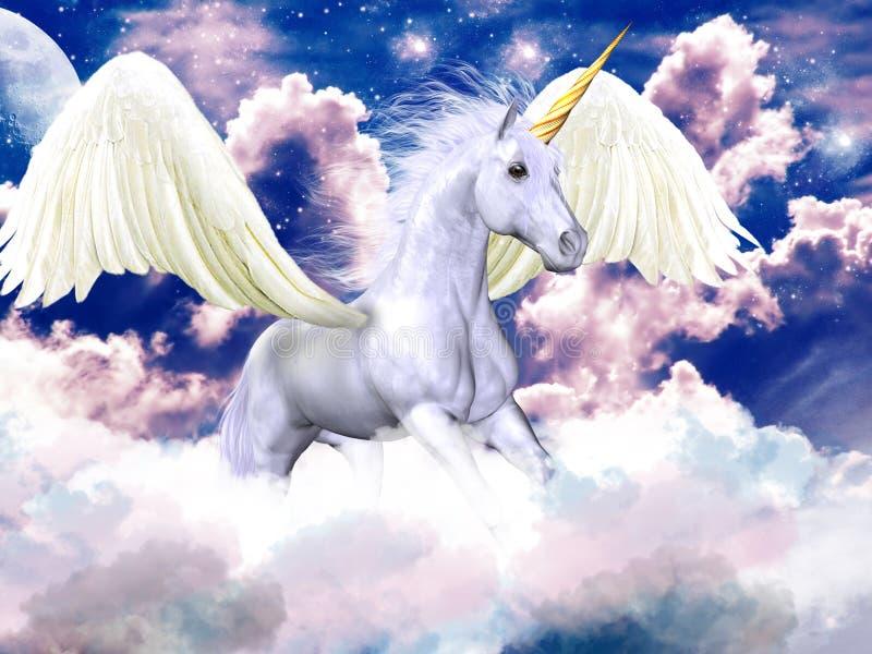 Ciel pourpré Pegasus illustration libre de droits