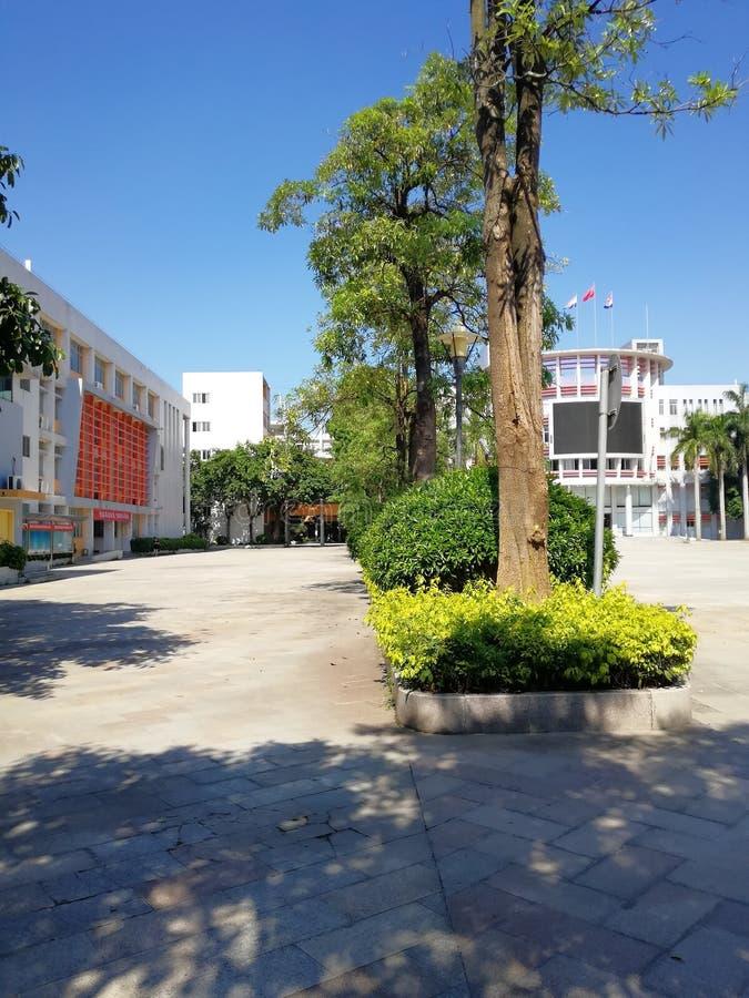 Ciel propre, belle école en Chine image libre de droits