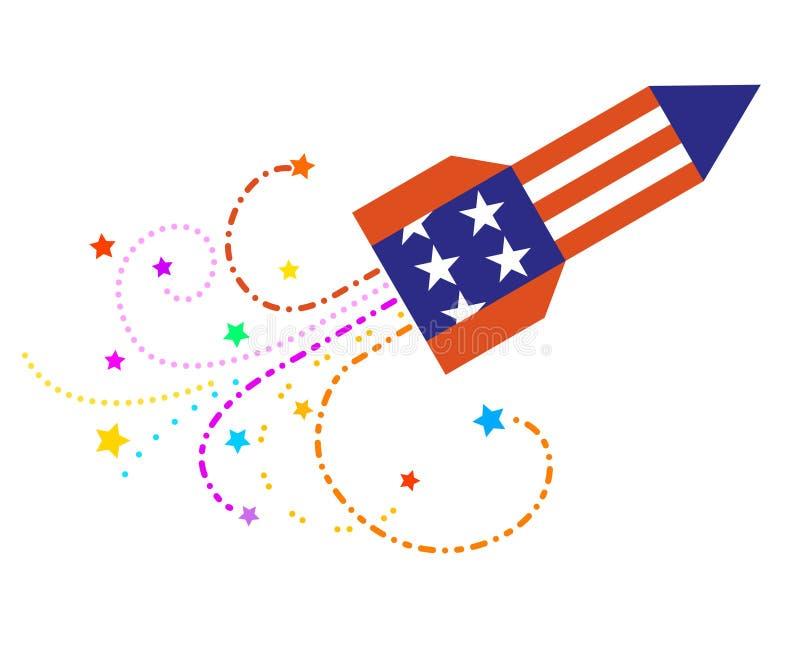 Ciel Rocket avec des étoiles photographie stock libre de droits