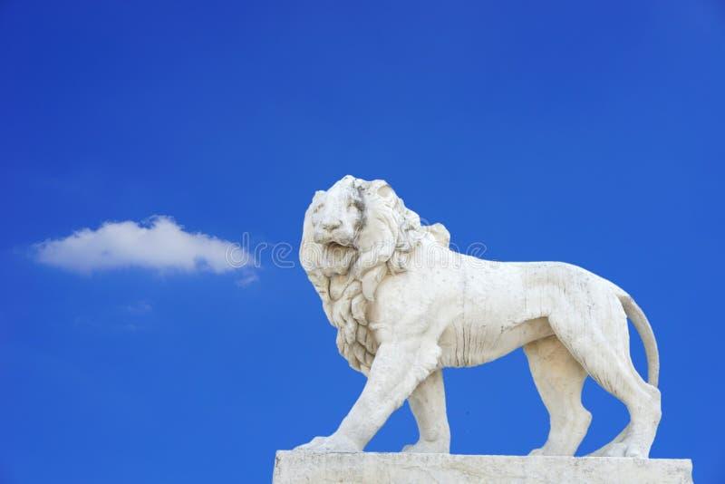 Ciel, statue, point de repère, monument image stock